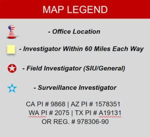 SpecialPI.com Map legend for Coverage Maps